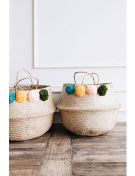 Connected Goods Ernie Pom Pom Belly Basket by Connected Goods