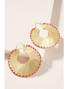 Julie Stitched Hoop Earrings by Anthropologie