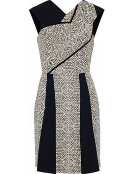 Jenolan Crepe And Tweed Mini Dress by Roland Mouret