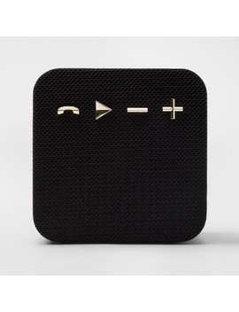 Heyday Square Portable Bluetooth Speaker   Black/Gold by Black/Gold