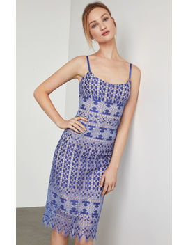 Alese Geometric Lace Midi Dress by Bcbgmaxazria