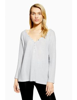 brushed-waffle-lounge-top by topshop