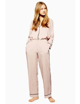 Pink Jacquard Star Pyjama Trousers by Topshop