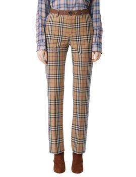 dana-archive-check-print-cotton-pants by burberry