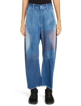 dye-patch-wide-leg-jeans by ys-by-yohji-yamamoto