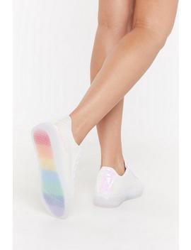 Irri Rainbow Sole Trainers by Nasty Gal