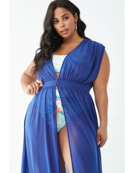 Plus Size Sheer Swim Cover Up Dress by Forever 21