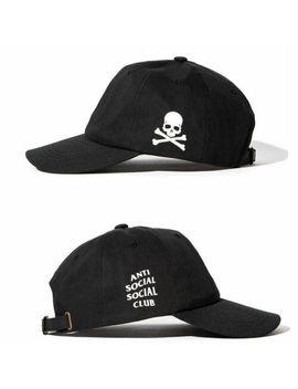 Anti Social Social Club Cráneo X Assc Gorra De Béisbol Sombrero De Paño Negro Correa Trasera by Ebay Seller