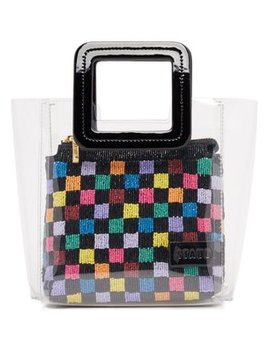 Mini Shirley Leather & Pvc Tote by Staud