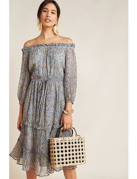 Kira Off The Shoulder Peasant Dress by Anthropologie