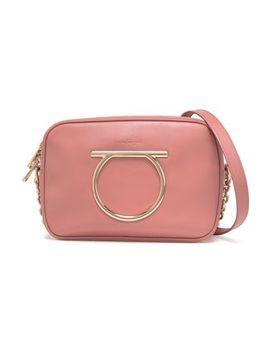 Embellished Leather Shoulder Bag by Salvatore Ferragamo
