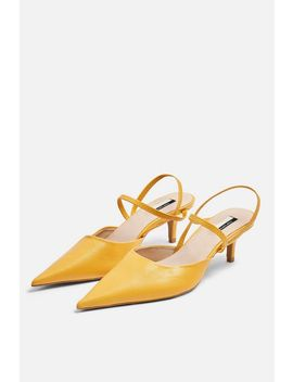Jammy Leather Mustard Point Strappy Shoes by Topshop