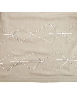Mod Botanical Crib Skirt (Grey) by Crate&Barrel