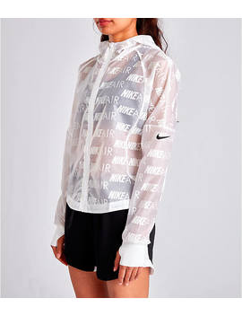 Women's Nike Air Allover Print Hooded Running Jacket by Nike