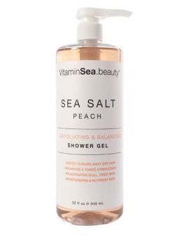 Sea Salt, Peach Exfoliating & Balancing Shower Gel/ 32 Oz. by Vitamin Sea.Beauty