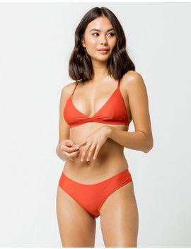 Full Tilt Cheeky Burnt Red Bikini Bottoms by Full Tilt