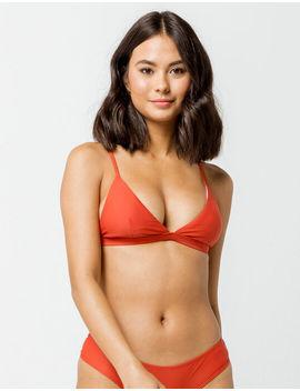 Full Tilt Fixed Triangle Burnt Red Bikini Top by Full Tilt