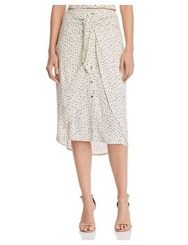 tie-front-polka-dot-midi-skirt---100%-exclusive by aqua