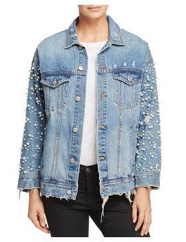Embellished Denim Jacket   100% Exclusive by Sunset &Amp; Spring