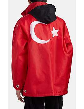 Turkish Flag Oversized Parka by Vetements