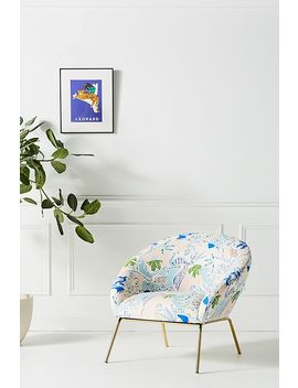 Midnight Jasmine Hillside Accent Chair by Emily Isabella