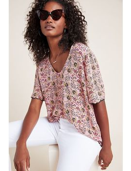 Olivia Floral Top by Velvet By Graham & Spencer