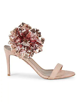 Disco Flower Sandals by Aquazzura