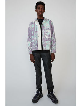Fanzine Print Jacket Lilac/Green by Acne Studios