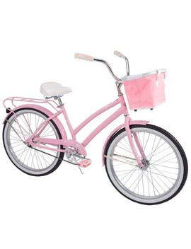 "huffy-nassau-24""-kids-cruiser-bike---pink by pink"