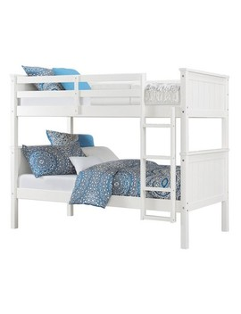 Maxton Twin Over Twin Bunk Bed White   Dorel Living by Dorel Living
