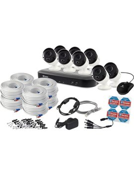 4980 Pro Series Hd 8 Channel, 8 Camera Indoor/Outdoor Wired 2 Tb Dvr Surveillance System   Black/Gray/White by Swann