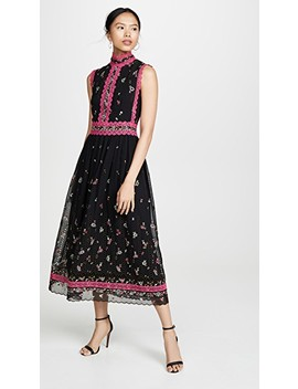 Embroidered Dress by Costarellos