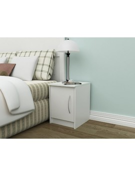 Addison 1 Door Nightstand Off White   Loft 607 by White