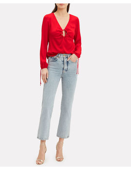 Mikaela Crepe Keyhole Front Top by Intermix