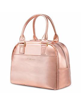lokass-lunch-bag-cooler-bag-women-tote-bag-insulated-lunch-box-water-resistant-thermal-lunch-bag-soft-liner-lunch-bags-for-women_picnic_boating_beach_fishing_work-(rose-gold) by lokass