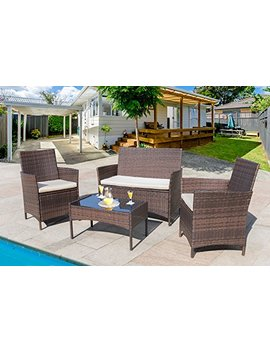 homall-4-pieces-outdoor-patio-furniture-sets-rattan-chair-wicker-set,outdoor-indoor-use-backyard-porch-garden-poolside-balcony-furniture-(medium) by homall