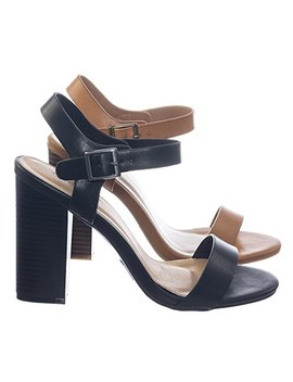 bamboo-retro-high-stacked-block-heel-open-toe-dress-sandal-w-ankle-strap by bamboo