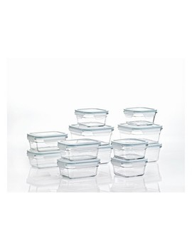 Glasslock Oven And Microwave Safe Glass Food Storage Containers 24 Piece Set by Glasslock