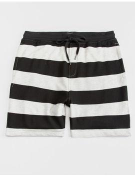 Cya Denver Stripe Black & White Mens Sweat Shorts by Cya