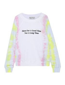 Printed Tie Dyed French Cotton Terry Sweatshirt by Wildfox