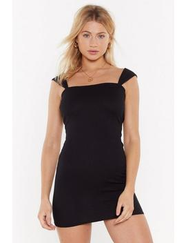 I'm A Handful Ribbed Mini Dress by Nasty Gal
