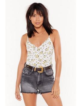 You Grow Me Floral Bodysuit by Nasty Gal