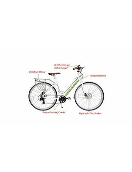 story-electric-bike---ebike-with-smart-350w-electronic-motor,-hidden-lithium-battery,-usb-port-to-charge-phone,-shimano-gears,-disc-brakes,-700c-unisex-hybrid-electric-bicycle by story-bicycles