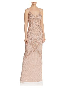 Embellished Mesh Gown   100% Exclusive by Aidan Mattox