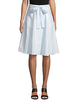 Button Front Midi Skirt by Saks Fifth Avenue