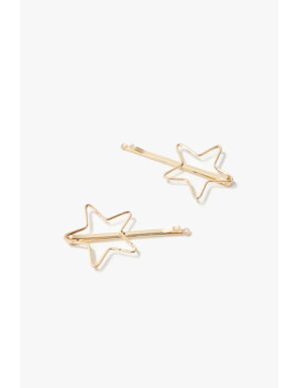 Star Cutout Bobby Pins by Forever 21