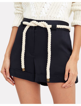 Rope Tie Navy Shorts by Monse