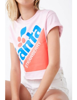 Fanta Strawberry Graphic Cropped Tee by Forever 21