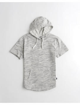 Short Sleeve Relaxed Terry Hoodie by Hollister