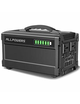 Allpowers Portable Generator, 288 W/780000m Ah Power Station Power Suplply For Outdoors Camping Emergency Backup With Quiet Dc/Ac Power Inverter, Charged By Solar Panel/Wall Outlet by Allpowers